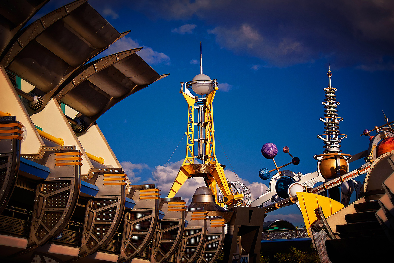 Disney Photography, Disney World Photography, Disneyland Photography, Disney Photos, Disney Pictures, Walt Disney World, The Magic Kingdom, Walt Disney, Mickey Mouse, Orlando, Florida, Theme Park,  Tomorroland, Detail, Astro Orbiter