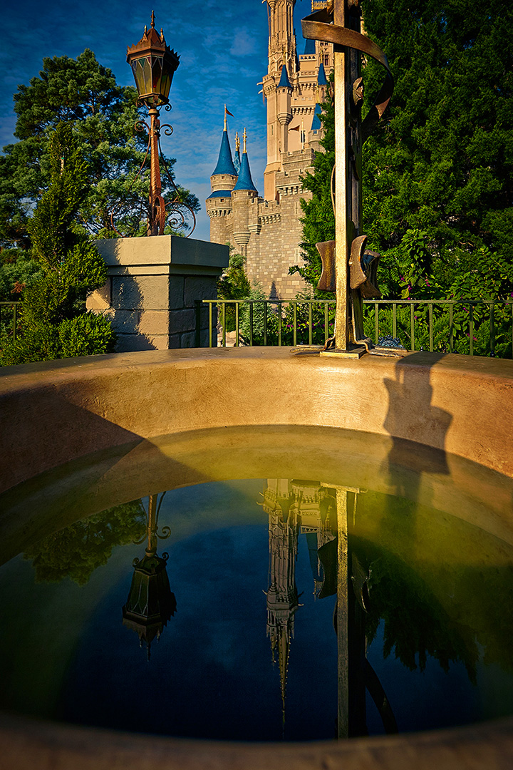 Disney Photography, Disney World Photography, Disneyland Photography, Disney Photos, Disney Pictures, Walt Disney World, The Magic Kingdom, Walt Disney, Mickey Mouse, Orlando, Florida, Theme Park,  Cindarella Castle, Wishing Well